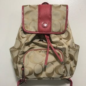 NWOT Coach Signature Canvas Backpack